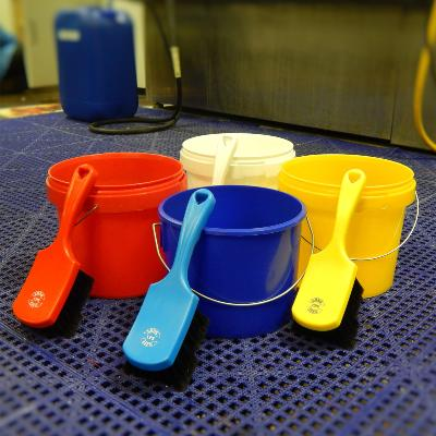 BUCKETS, BRUSHES & GLOVES