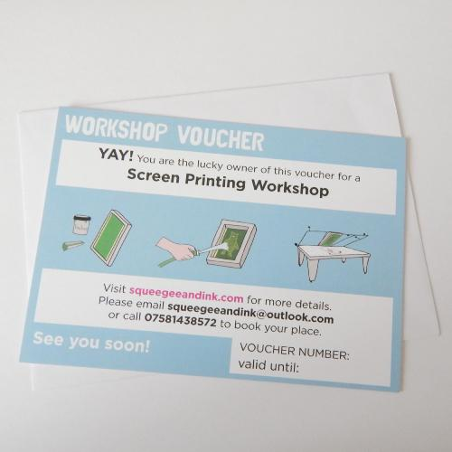 LEARN TO SCREEN PRINT GROUP VOUCHER