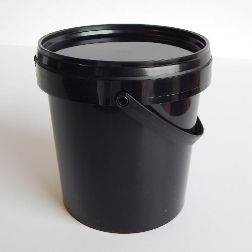 10 Plastic Containers Amp Lids Black