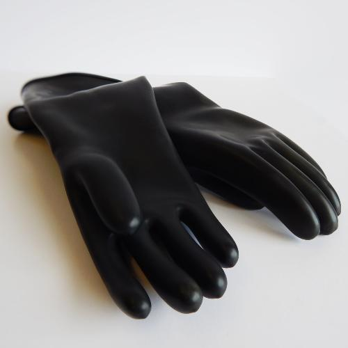 SOLVENT RESISTANT GLOVES - BLACK